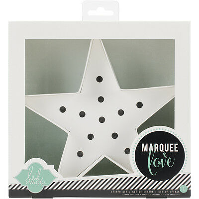 """Heidi Swapp Marquee Love Letters, Numbers & Shapes 8.5"""" Star HSMAR-9179"""