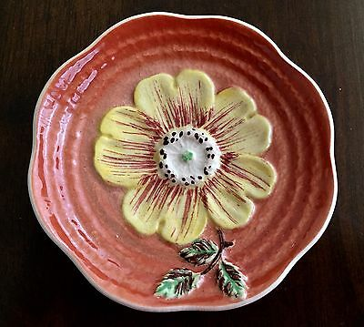 Vintage Staffordshire Shorter Son DAISY PLATE hand painted England RARE Dish