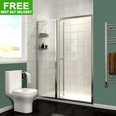 Bifold Shower Door Walk In Shower Screen Cubicle Tempered Glass NextDay Delivery