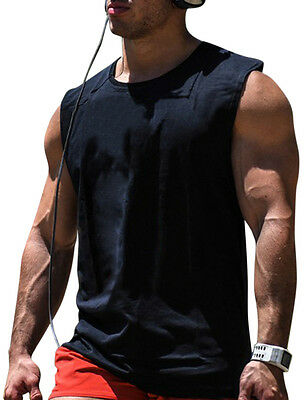 Mens Casual Gym Sport Vest Tank Top T-shirt Muscle Sleeveless Bodybuilding Shirt