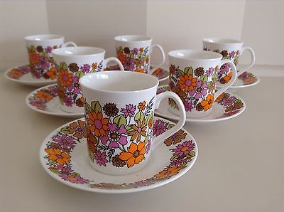 Retro 60's Vintage Elizabethan England Fine Bone China Cup And Saucer Set.