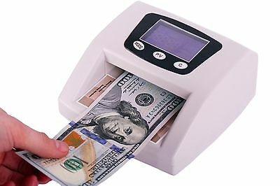 LCD Multi-Currency Counterfeit Bill Money Detector MG/UV/IR/COLOR/SIZE detection