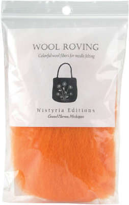 "Wool Roving 12"" .22oz Orange R-W824R"