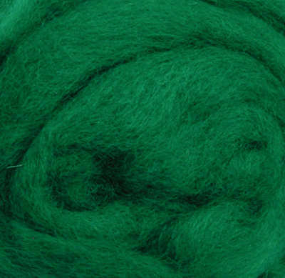 "Wool Roving 12"" .22oz Green R-W822R"
