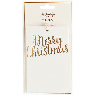 Holiday Tags 10/Pkg Merry Christmas HYP114