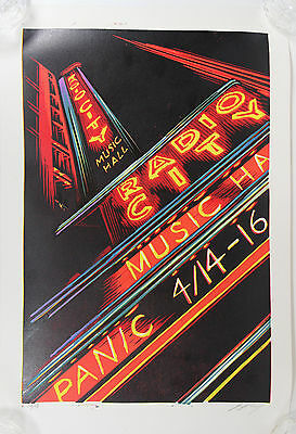 Widespread Panic Poster 2005 Radio City Music Hall New York Signed Masthay 19/50