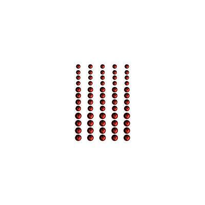 Queen & Co Rhinestones Self Adhesive 60/Pkg Classy Red RHSR-683