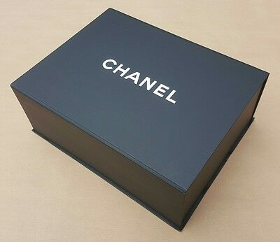 CHANEL Magnetic Black Box For CLASSIC FLAP or BOY Bag With Brochure & Leaflet