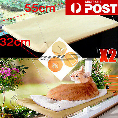 2XWindow Mounted Bed Cat Seat Pets Sunny Hammock Cover Washable Comfortable KIT