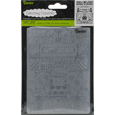 "Embossing Folder 4.25""X5.75"" Birthday Collage EB12-227"
