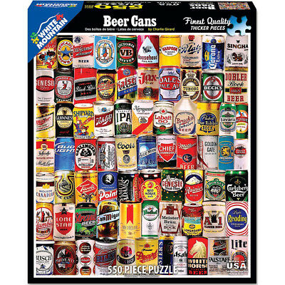 "Jigsaw Puzzle 550 Pieces 18""X24"" Beer Cans WM1130"