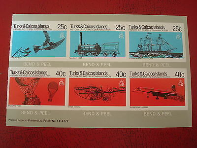 Turks & Caicos - Postal Communication (2) - Bend & Peel Sheet - Ex Condition