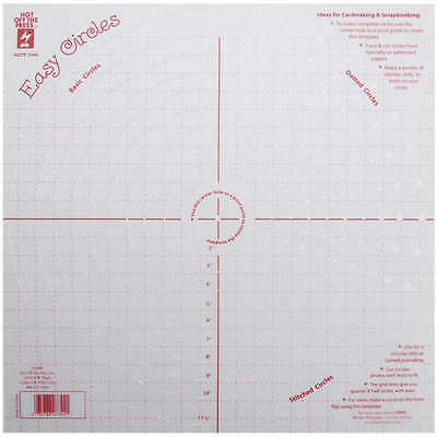 """Hot Off The Press Template 12""""X12"""" Easy Circles 73-12-44"""