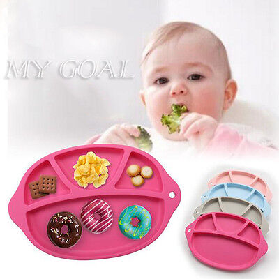 One-piece Silicone Baby Tray Happy Baby Kid Table Food Placemat Plate For Baby