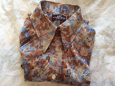 Mens Vintage 1970s A&S Shirt - Size Large
