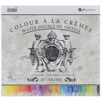 """Iron Orchid Designs Water Soluble Oil Pastels 3.25"""" 24/Pkg  814328"""