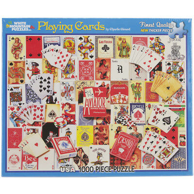 "Jigsaw Puzzle 1000 Pieces 24""X30"" Playing Cards WM931"