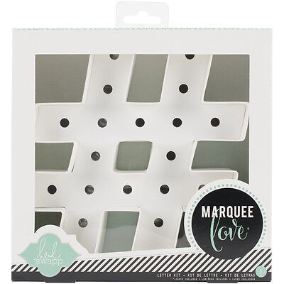"""Heidi Swapp Marquee Love Letters, Numbers & Shapes 8.5"""" Hashtag HSMAR-2000"""