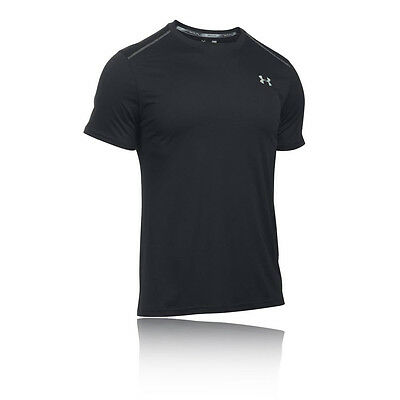 Under Armour Coolswitch Hombre Negro Manga Corta Running Camiseta Correr Top