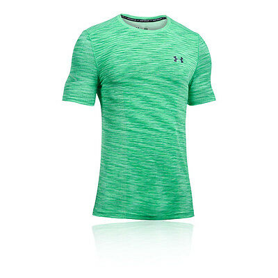 Under Armour Threadborne Hombre Verde Manga Corta Cuello Redondo Camiseta Top