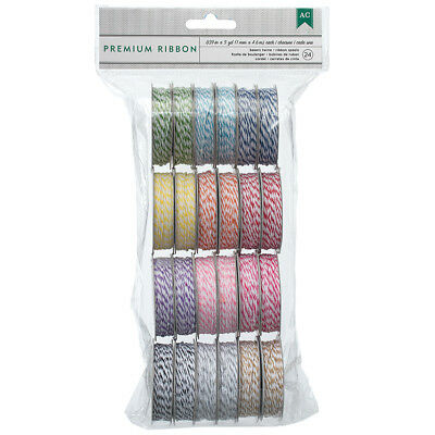 Baker's Twine Value Pack 5yd Spools 24/Pkg Bright 366303