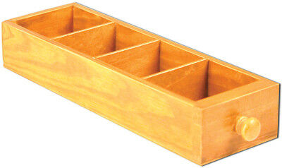 """Mini Library Drawer 2""""X3.5""""X11.25"""" 4 Divided Areas 7G12613"""