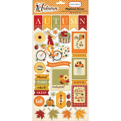 "Autumn Chipboard Accents 6""X13""  ATM57022"