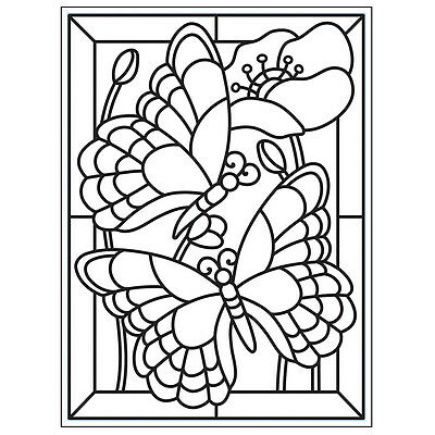 "Embossing Folder 4.25""X5.75"" Mosaic Butterfly EB12-8389"