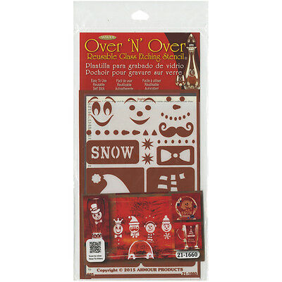 "Over 'N' Over Reusable Stencils 5""X8"" Snow Fun GE21-1660"
