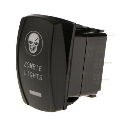 Auto Barca RVs Camion 12V-24V SPST Interruttore On/Off Zombie Luce LED Rosso