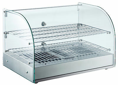 """EQ Commercial Heating Countertop Display Duble Net glass S.steel 24.6""""18""""x14.25"""""""