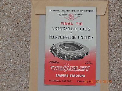 FA CUP FINAL programme  Leicester City V Man. Utd. 1963