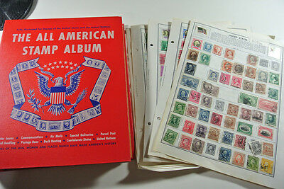 USA Stamp Collection from Estate / Pages and All American Stamp Album