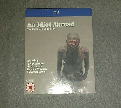 An Idiot Abroad - Series 1-3 - Complete (Blu-ray, 2012, 5-Disc Set, Box-Set)