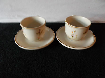 Marks & Spencer Harvest Round Coffee/Tea Cups and Saucers x 2