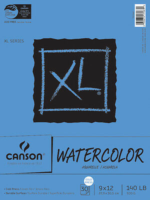 "Canson XL Watercolor Paper Pad 9""X12"" 30 Sheets 702-2445"
