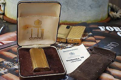 Dunhill 70 Gold Plated Gents Vintage Lighter In Box-Spares/repairs Only!