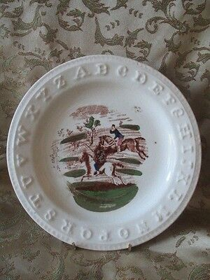 Antique ABC  - Alphabet Plate  Charles Allerton & Sons - CA & Sons