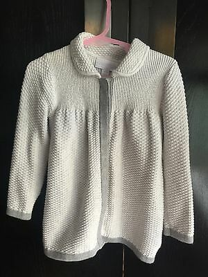 White Company Cardigan Jacket size 12-18 months Perfect Condition