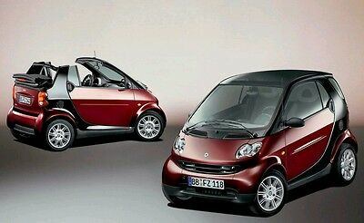 Smart ForTwo City Coupe / Cabrio Workshop repair manual 1998 - 2009 450 & 451