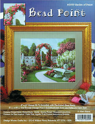 """Garden Of Peace Bead Point Kit 8""""X10"""" Printed DW2399"""