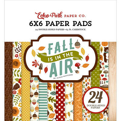 "Echo Park Double Sided Paper Pad 6""X6"" 24/Pkg Fall Is In The Air FA112023"