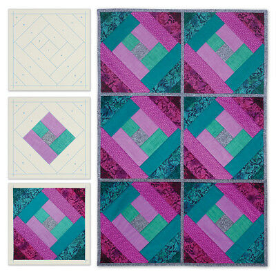 Quilt As You Go Printed Quilt Blocks On Batting London Labyrinth JT1406