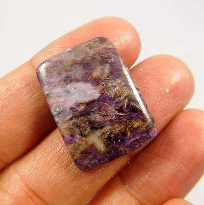 17.4cts Charming Natural Russian Blue Charoite Antique 24x17 Untreated Gemstone