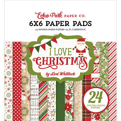 "Echo Park Double Sided Paper Pad 6""X6"" 24/Pkg I Love Christmas LC114023"