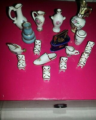 Limoges Job lot X 16 items. Miniature French china