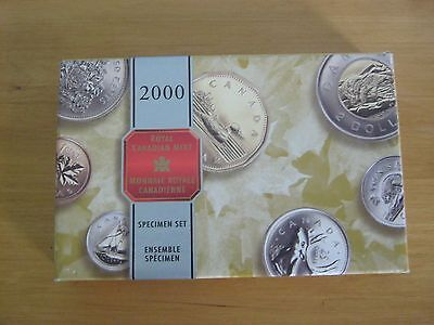 2000 Specimen Set Canadian Coins. New Uncirculated