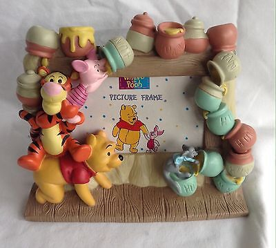 Stunning Rare Winnie The Pooh Ceramic Resin Disney Photograph Character Frame