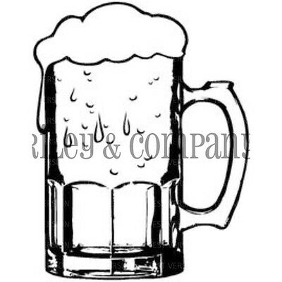 "Riley & Company Cling Stamp 1.5""X2"" Large Beer Mug RCM404"
