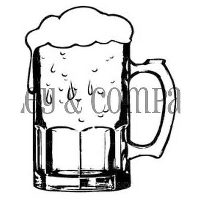 "Riley & Company Cling Stamp 1.25""X1.25"" Small Beer Mug RCM405"